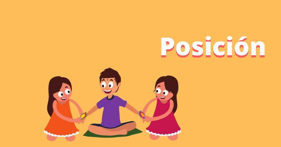 Imagen con niños sentados en el suelo para practicar verbo estar posición.