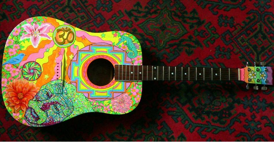 Imagen guitarra. Escucha música para mejorar tu español