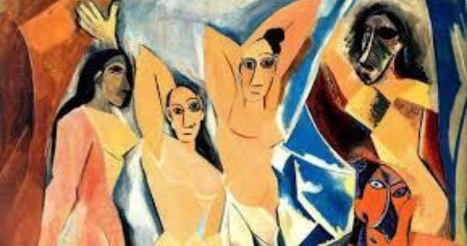 Señoritas de Avignon Aprende español con Picasso