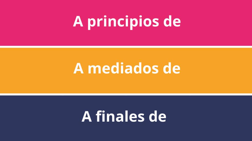 Fechas inespecíficas en español