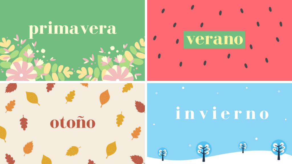 estaciones del año español