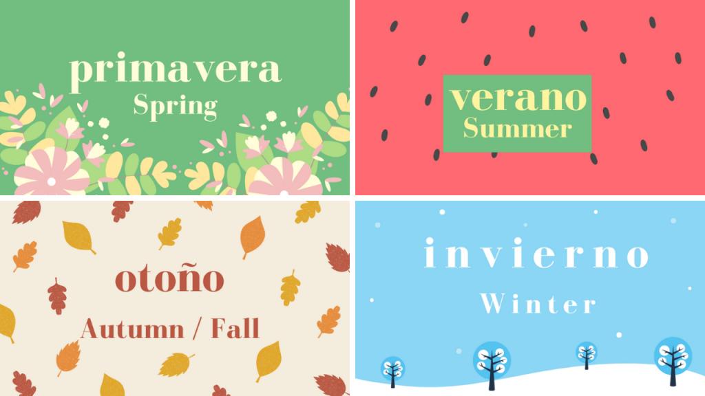estaciones del año español-inglés