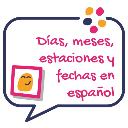 Portada dias, meses, estaciones y fechas en español