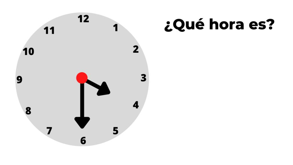 ¿qué hora es? ejemplo 5