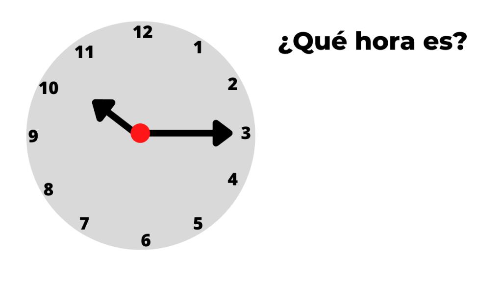 ¿qué hora es? ejemplo 2