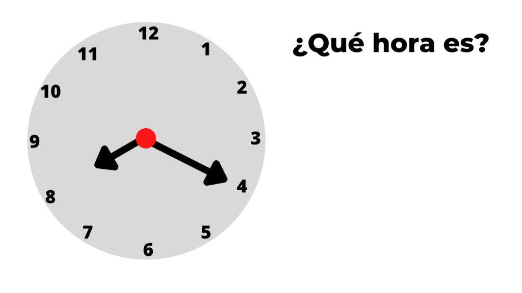 ¿qué hora es? ejemplo 4