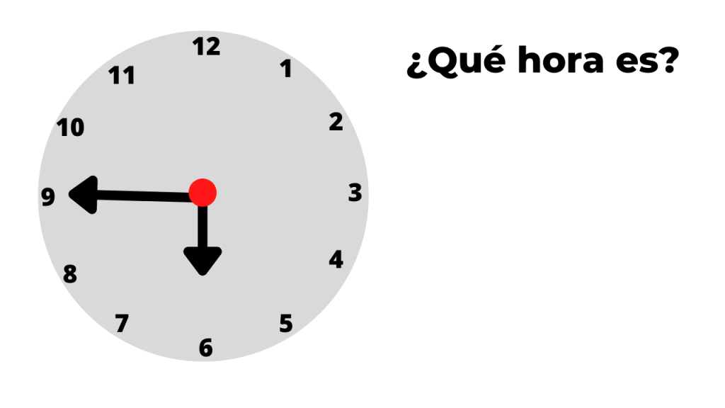 ¿qué hora es? ejemplo 7