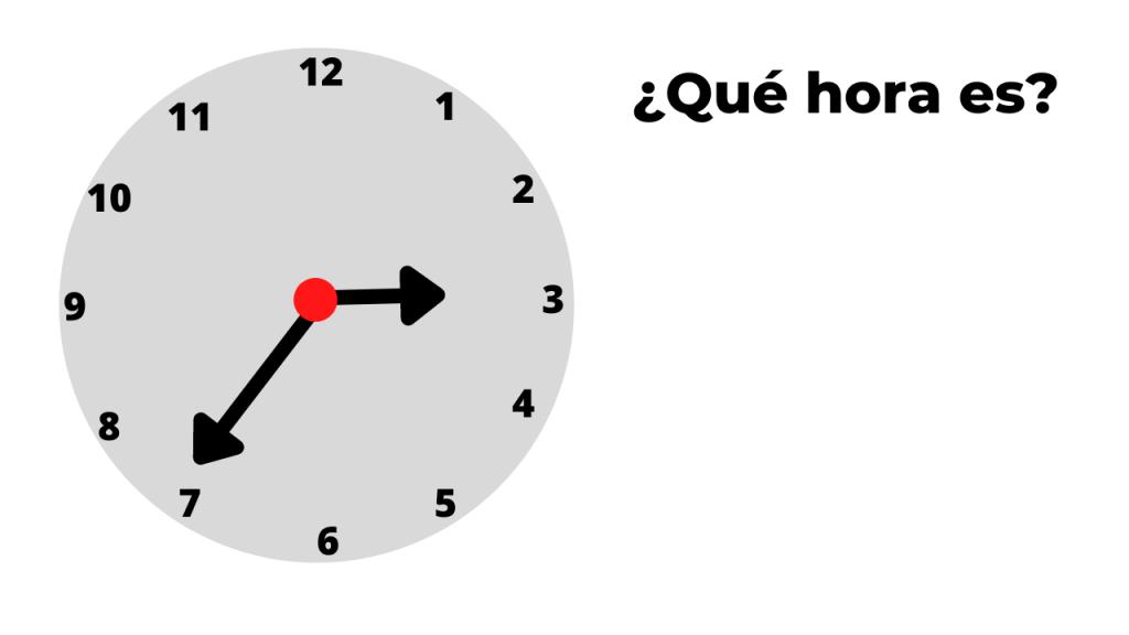 ¿qué hora es? ejemplo 3