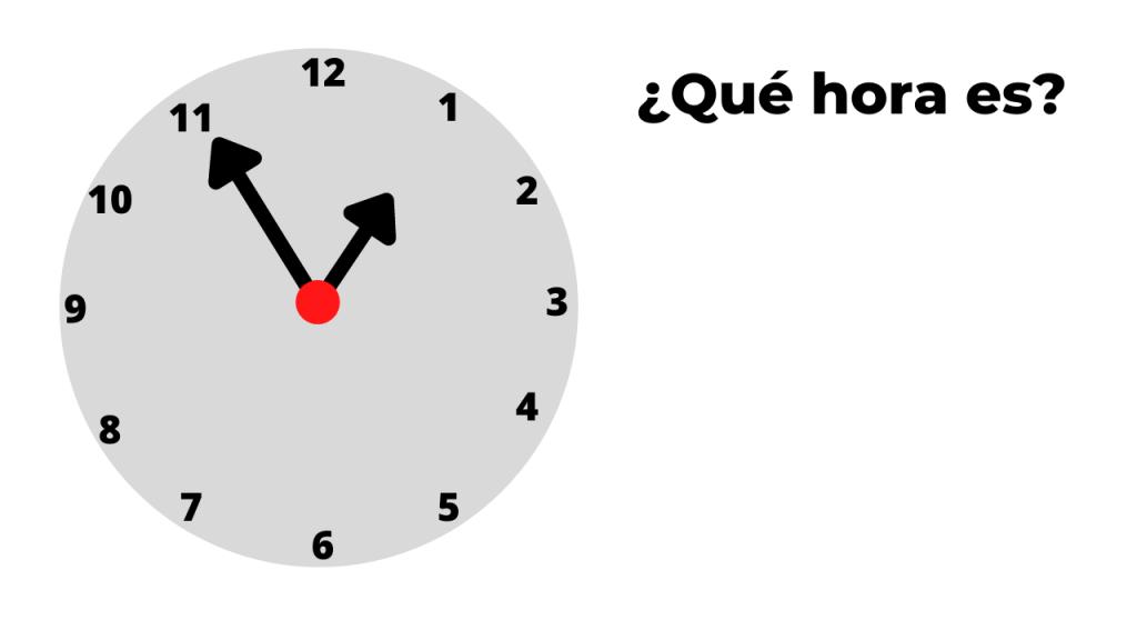 ¿qué hora es? ejemplo 6